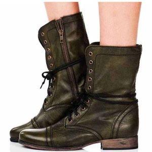 Steve Madden troopa green combat boots